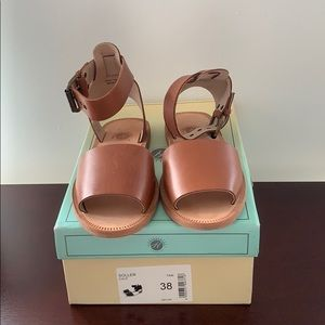 Like new H BY HUDSON WOMAN Soller Sandal, Tan